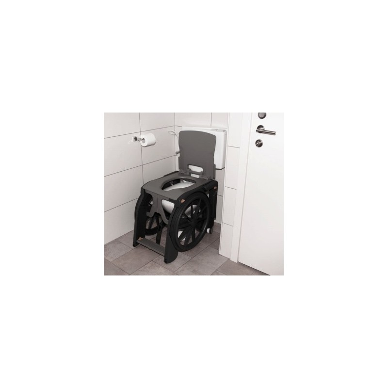 fauteuil roulant pliant wheelable toilettes et douche 100 plastique. Black Bedroom Furniture Sets. Home Design Ideas