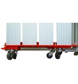 Plateforme pliante amovible en aluminium - hauteur 12 à 19 cm