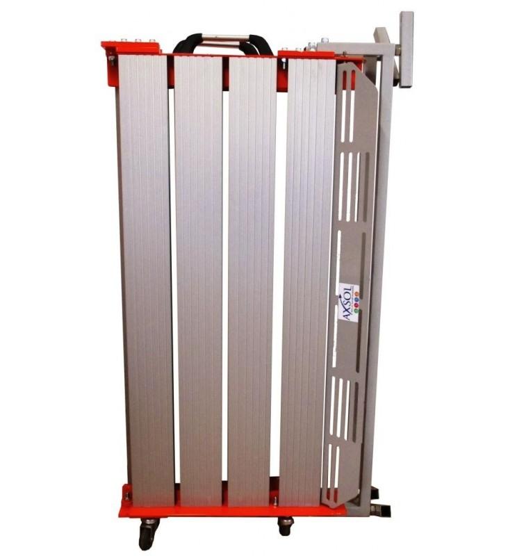 Plateforme pliante amovible en aluminium - hauteur 18 à 35 cm
