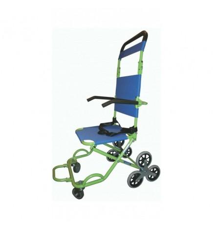 Chaise d'évacuation trois roues pour domicile