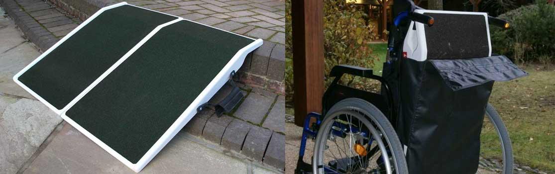 Rampe voyage pliante pour accès pmr et handicapé