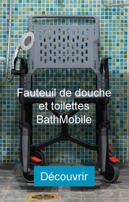 Fauteuil de douches et de toilettes Bathmobile, pour PMR