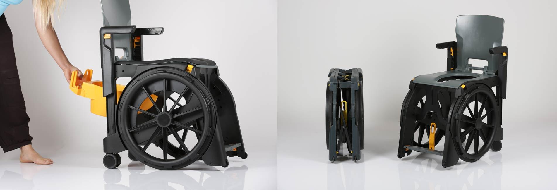 Fauteuil d'aisance WheelAble, produit révolutionnaire pour les handicapé ou personnes à mobilité réduite
